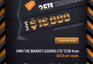 CTE TRACCESS 230 - 23m Spider Lift. Priced from $431 per week.