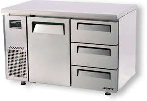Turbo Air KUF12-3D-3 Drawer Under Counter Side Prep Table Freezer