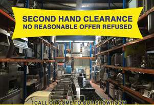 Secondhand Commercial Catering Equipment Clearance