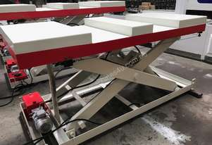 RHINO HEAVY DUTY 2 T SCISSOR LIFT TABLE 2400 X 1000mm with FORK LIFT ACCESS *ON SALE*
