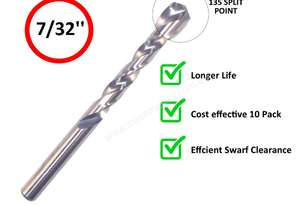 INSIZE IN0121 DRILL BIT PACK OF 10 - 7/32''