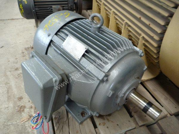 TECO 15HP 3 PHASE ELECTRIC MOTOR/ 1465RPM