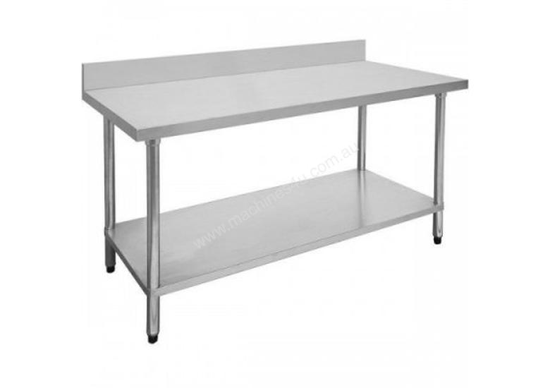 F.E.D. 2100-7-WBB Economic 304 Grade Stainless Steel Table with splashback 2100x700x900