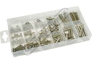 K72062 Stainless Steel Nuts & Bolts Assortment 224 Piece