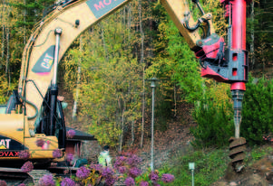 MOVAX TAD-31S EXCAVATOR MOUNTED PILING DRILL