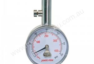 STRAIGHT CHUCK DIAL TYRE GAUGE WITH CASE