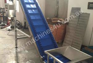 Quick-Release Washable Conveyor with Hopper