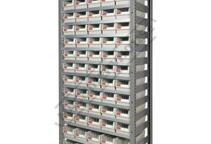 MSR-65 Industrial Modular Shelving Package Deal 943 x 465.4 x 2030mm Includes 65 x BK-164 Plastic Bi