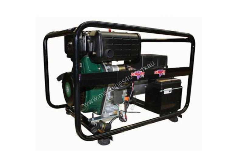 Dunlite 3 Phase 6.8kVA Diesel Generator with Elec Start