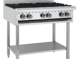 Luus Essentials Series 900 Wide Cooktops 6 burners & shelf - picture0' - Click to enlarge
