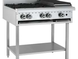 Luus Essentials Series 900 Wide Cooktops 6 burners & shelf - picture1' - Click to enlarge