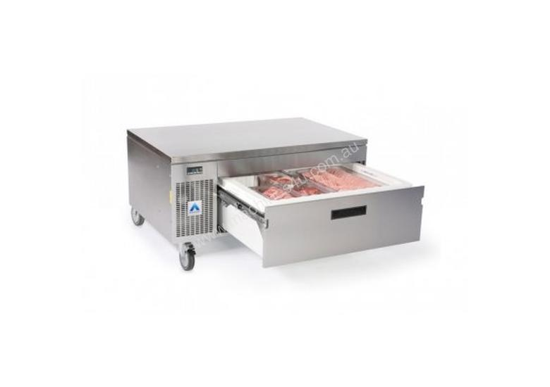 Adande VCS1.HCHS Single Drawer Side Engine Refrigeration Unit with High Castors and Heat Shield Top