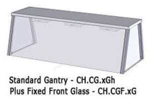 Culinaire CH.CGF.4G 4 Bay Gantry Fixed Glass Front