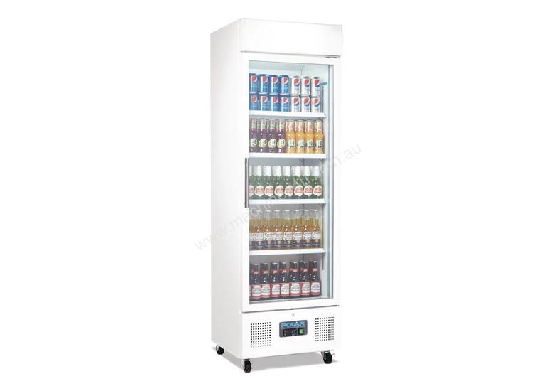 Polar DM076-A - Upright Display Chiller 322Ltr Single Door Fridge