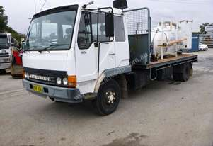 1993 Mitsubishi 4x2 6 Tonne Rigid Flat Bed Truck with Vacmaster Vacuum System IN AUCTION