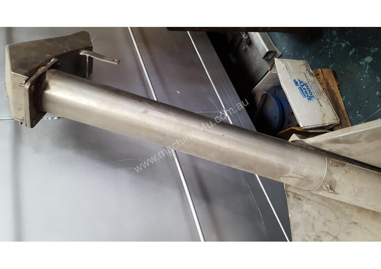 Stainless Steel Auger Feeder with feed/storage hopper