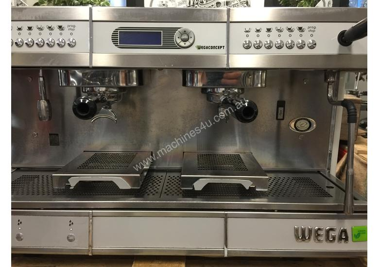 WEGA CONCEPT 2 GROUP HI-CUP ESPRESSO COFFEE MACHINE BLACK