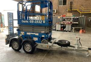 Genie GS1932 19 foot  Scissor lift with Gal Trailer