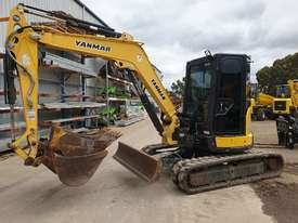2014 YANMAR VIO55-6 EXCAVATOR WITH A/C CABIN, HITCH, BUCKETS AND 2838 HOURS - picture0' - Click to enlarge