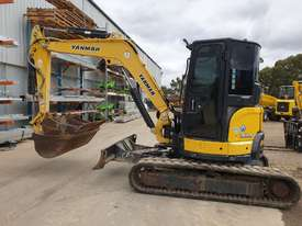 2014 YANMAR VIO55-6 EXCAVATOR WITH A/C CABIN, HITCH, BUCKETS AND 2838 HOURS - picture1' - Click to enlarge