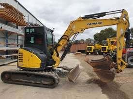 2014 YANMAR VIO55-6 EXCAVATOR WITH A/C CABIN, HITCH, BUCKETS AND 2838 HOURS - picture9' - Click to enlarge