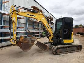 2014 YANMAR VIO55-6 EXCAVATOR WITH A/C CABIN, HITCH, BUCKETS AND 2838 HOURS - picture13' - Click to enlarge