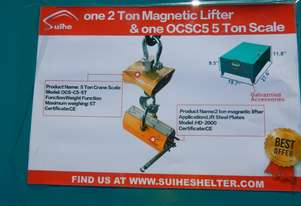2 Ton Magnetic Lifter, 5 Ton Scale