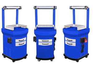 AJAX Mobile Metal Dust Collector Stand for Bench Grinders