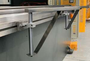 Swivel Front Sheet Supports With Up & Down Adjustment to Suit Pressbrakes