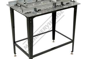 SRK-40P1 Welding Table with Square & Round Tube Clamp Kit Includes 40 Piece Clamp Kit 600 x 900 x 86
