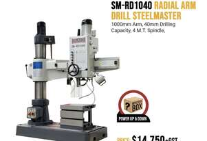 1000mm Arm Heavy Duty Industrial Radial Drill - 40mm Drilling Capacity