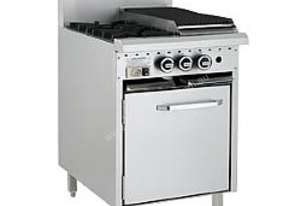 LUUS Gas Oven Range - 2 Burners 300 BBQ and Oven