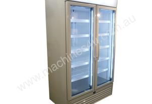 Sanden SPU-1253W White Double Door Display Fridge w/EMS & LED