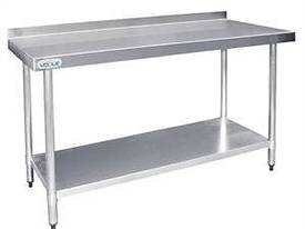 Stainless Steel Prep Table with Splashback - T381  - picture0' - Click to enlarge
