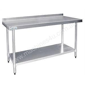 Stainless Steel Prep Table with Splashback - T381