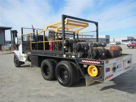 power line tensioner winch truck , x 6 winches