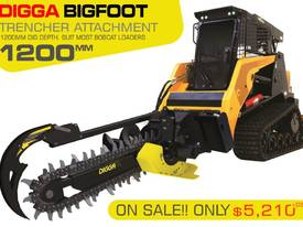 1200MM DIG DEPTH Digga BIGFOOT Hydraulic Trencher