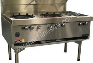 Air Cooled Gas Wok - Double with Side Burners