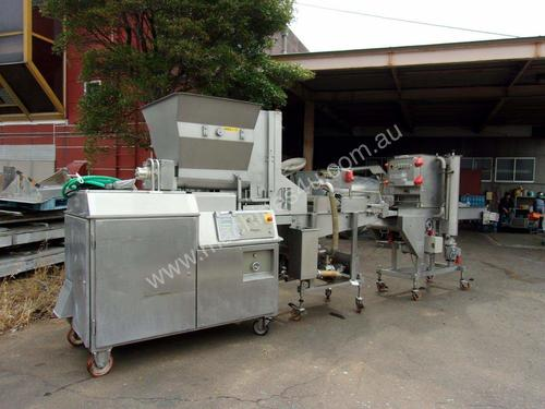 Former with Battering plus Crumbing/Breading Machi