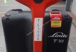Used Forklift: T18 Genuine Pre-owned Linde 1.8t