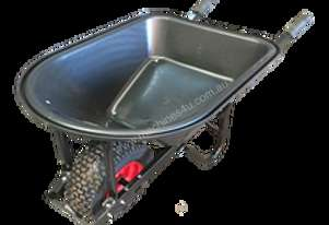 TMP SHORT HANDLE POLY TRAY F/F WIDE WHEEL BARROW