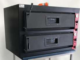 EX-DEMO F.E.D Germany s Black Panther Double Deck Pizza Deck Oven - picture0' - Click to enlarge