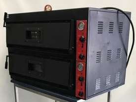 EX-DEMO F.E.D Germany s Black Panther Double Deck Pizza Deck Oven - picture2' - Click to enlarge