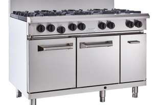 Luus RS-6B3C 1200mm Oven with 6 Burners & 300mm Chargrill Professional Series