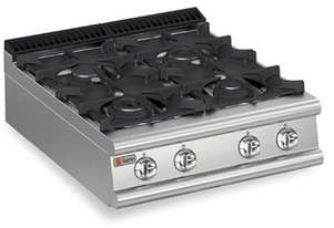 Baron 7PC/G8005 Four Burner Bench Model Gas Cook Top