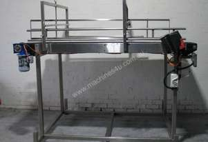 Large Stainless Steel Motorised Belt Conveyor Variable Speed - 2.2m long