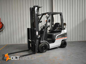 Nissan P1F1A18DU Forklift 1.8 ton LPG fork 5500mm Lift Height 3 Stage Mast - picture1' - Click to enlarge