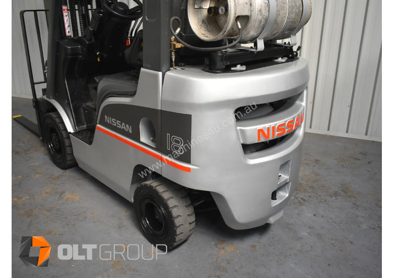 Nissan P1F1A18DU Forklift 1.8 ton LPG fork 5500mm Lift Height 3 Stage Mast