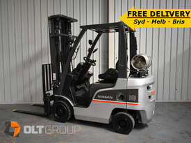 Nissan P1F1A18DU Forklift 1.8 ton LPG fork 5500mm Lift Height 3 Stage Mast - picture0' - Click to enlarge
