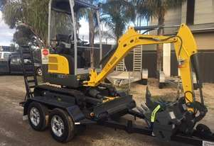 Wacker Neuson EZ17 Hydraulic QH (1.7T) Excavator and Trailer package 5 year warranty